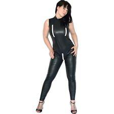 sexy Reißverschlüsse am GANZANZUG im Leder-Look* L 44 * wetlook Catsuit* Overall