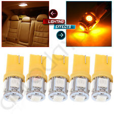 5pcs Yellow T10 168 194 5050 LED Bulb For Ford Cab Marker Clearance Lights
