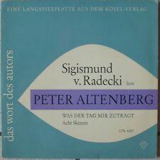 LP Sigismund von Radecki liest Peter Altenberg. Was der Tag mir zuträgt. Acht Sk