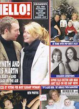 GWYNETH PALTROW CHRIS MARTIN UK Hello Magazine 12/16/03 VICTORIA DAVID BECKHAM