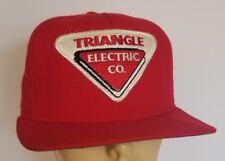 Vintage New Era Pro Model Triangle Electric Patch Snapback Trucker Hat USA Wool?
