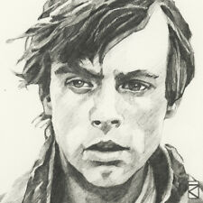 Star Wars - Luke Skywalker Sketch - Ready Framed Canvas 30x30cm
