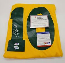 Pele Authentic Signed Brazil Jersey Autographed in Silver PSA/DNA, FANATICS