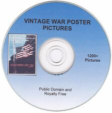 Vintage War Poster Pictures! - 1200+ public domain and royalty free images on CD