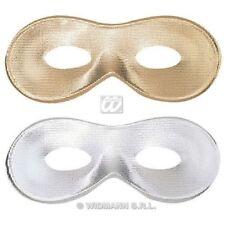 Maschere senza marca per carnevale e teatro argento