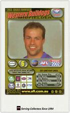 2002 AFL Teamcoach Gold Trading Card #255 Brad Johnson (Western Bulldogs)