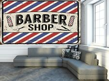 Barber Shop Sign  Photo Wallpaper Wall Mural DECOR Paper Poster Free Paste