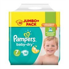 Pampers Baby-Dry Taille 7 couches 58 Jumbo Pack
