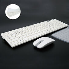 Deutsch Tastatur und Maus Set  Wireless Keyboard Mouse Weiß