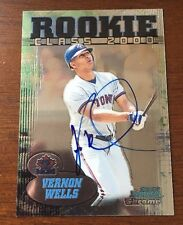 VERNON WELLS 2000 BOWMAN CHROME AUTOGRAPHED SIGNED AUTO BASEBALL CARD RC4 ROOKIE