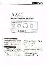 Onkyo Manuel d'Utilisation User Manual Owners Manual pour A - 911