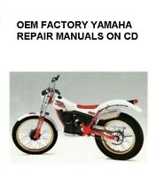 YAMAHA TY350 OEM FACTORY REPAIR SERVICE MANUALS DIGITIZED ON CD