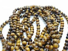 Tigers Eye Round Beads 8mm 6mm High Quality Gemstones 100pcs Jewellery Making