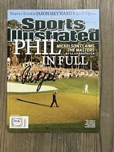 PHIL MICKELSON signed / autographed magazine ~ Sports Illustrated ~ PSA/DNA COA