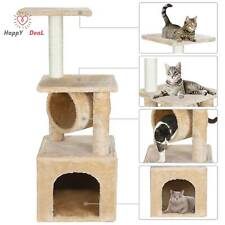 "36"" Cat Tree Tower Activity Center Large Playing House Condo For Rest And Sleep"