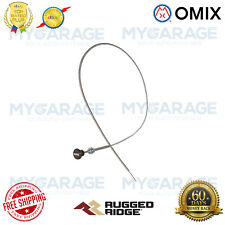 Omix-ADA For 41-71 Willys / Jeep CJ Carburetor Accelerator Cable Black Knob