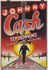 Johnny Cash | Art by Randy Tuten | BGF #F162- Original 1994 Concert Poster