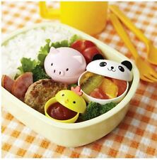 Torune Japanese Mayo Mini Cups for Bento Box Lunch, Panda, Chick, Pig