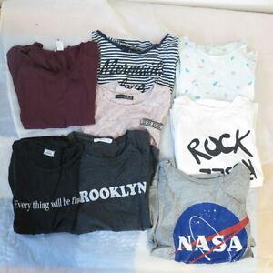 Kleiderpaket Shirt 8er Set Mädchen Kurzarm Gr XS-S Mädchenoberteile #S 172