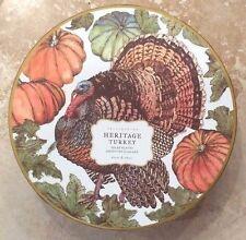 POTTERY  BARN ~ HERITAGE THANKSGIVING TURKEY PLATES ~ SALAD / DESSERT ~ HARVEST