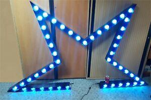 8 x 6 Blue multi-LED Light Display Bars. 24 Volt DC Operation. Disco