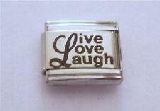 9mm Italian Charms L75 Live Love Laugh Fits Classic Size Bracelet