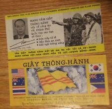 Vietnam War Propaganda Safe Conduct Pass