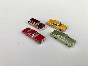 Classic Metal Works N Scale 53 Ford Country Squire 67 Ford Custom 500 + Lot of 4