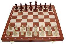 Schach Turnier - Schachspiel Staunton Nr. 6, Holz, Schachbrett 53 x 53 cm
