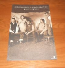 Alison Krauss & Union Station Paper Airplane Promo Poster 11x17