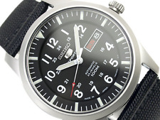Seiko 5 Men's Sports SNZG15J1 Automatic Military Day Date Watch Made In Japan