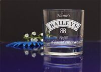 Personalised engraved Baileys glass/Refill if found empty/ B-day,X-mas, Mother64