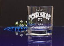 Personalizado Grabado Baileys Vidrio/recarga si encuentra vacío/B-Día, X-Mas, madre 64