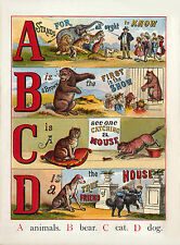 Childrens  illustrated ABC of Animals Nursery poster Bedroom poster Prints  A4