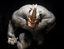 Marvel: Sideshow: RHINO comiquette statue - RARE (spiderman/hulk/thanos/doom)