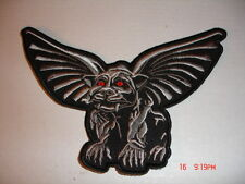 Gothic Gargoyle Embroidered Patch - Large 6 X 4 Inches
