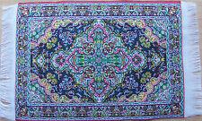 Escala 1:12 10cm X 15.5cm alfombra turca tejida de casa de muñecas en miniatura Alfombra P27s