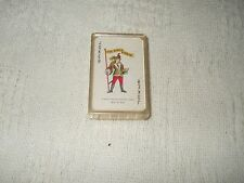 "Full  Deck Of Miniature Playing Cards In Plastic Case Holder 2 1/4"" X 1 1/2"""