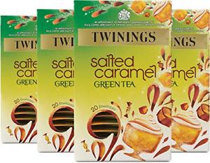 Twinings Salted Caramel Green Tea, 80 Envelopes Multipack of 4 x 20 Envelopes