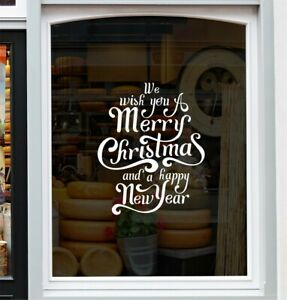 Christmas Window Sticker We Wish You A Merry Christmas Shop Home Xmas Decal