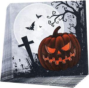 20 Graveyard Gathering Party Napkins Happy Halloween Table Decoration 33 x 33cm