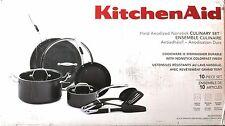 KITCHENAID 10-Piece Hard Anodized Nonstick Cookware Set ... NEW!