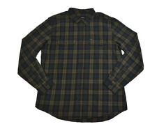 Hurley UNITE L/S Seaweed Multi Plaid Two Front Pockets Flannel Men's Shirt