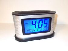 Large LCD Digital Alarm Clock, Displays Time, Day and Date, Temperature-Backlite