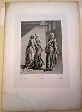 Eau forte, Illustration de Bajazet de Racine, IV, 3