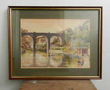 Peter Nelson - Vintage framed print - Knaresborough River Nidd