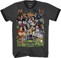 Disney Villain Group Classic Retro Adult Tee Graphic T-Shirt for Men Tshirt