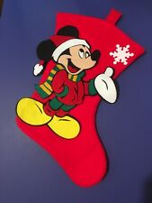 "Walt Disney MICKEY MOUSE 3D Felt Stocking Christmas  Mickey Unlimited 18"""