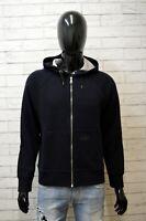 Felpa Lana Uomo GAS Taglia M Maglione Maglia Pullover Cardigan Blu Sweatshirt