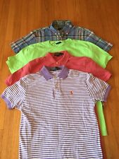 Lot Of 5 Polo Ralph Lauren Polo Shirt S/S & V-Neck Sweater Men's Size Small S